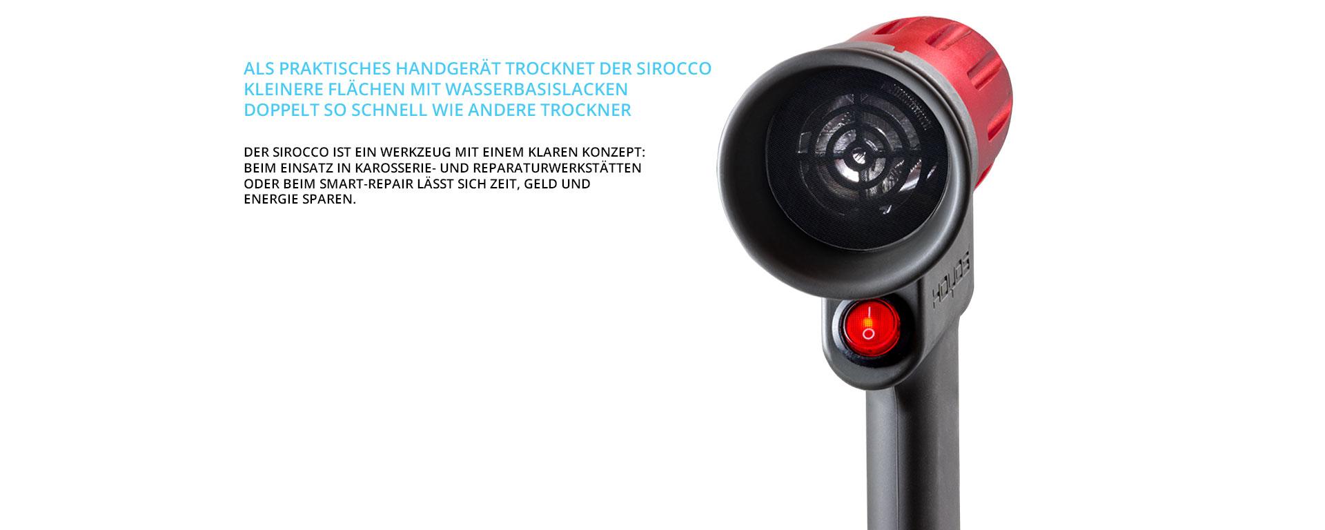 Sirocco-lacktrockner